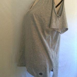 Michael Kors T-shirt Peek a boo shoulder Size L